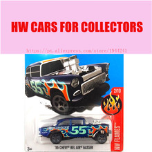 New Arrivals 2017 Hot 1:64 Car wheels Blue 56 Chevy Bel Air Gasser Metal Diecast Cars Collection Kids Toys Vehicle For Children