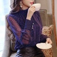 new-fashion-women-chiffon-lantern-long-sleeve-stand-collar-Polka-Dot-Button-blouse-female-girls-Office.jpg_200x200