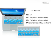 Herngee Silicone keyboard cover for Apple macbook Air Pro Retina 13 15 17 Protective Stickers for mac book laptop Skin Film(China)