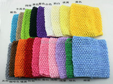 19 color mix wholesale 20 PCS/lot neonatal 14 cm X 15 cm  6 inches tutu tube tops Wide Crochet headbands