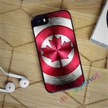 CAPTAIN CANADA SHIELD fashion case cover cover for iphone 4 4s 5 5s SE 5c for 6 & 6 plus 6S & 6S plus 7 7 plus #CD76