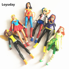 6 pcs/lot DC COMICS Designer Series 14CM Supergirl / Suicide Squad Harley Quinn PVC Action Figure Collectible Model Toy(China)