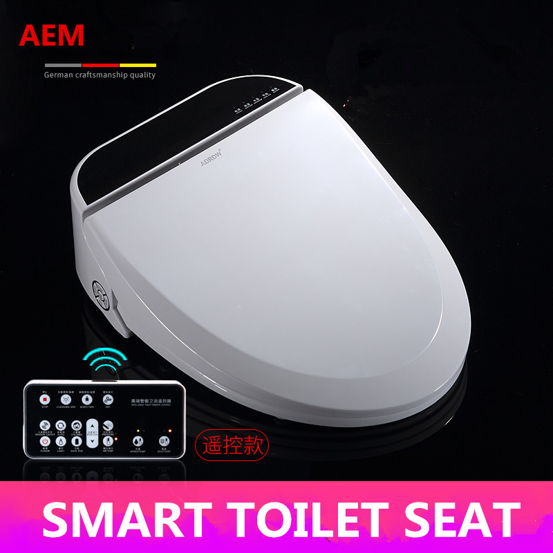 Smart Heated Toilet Seat WC Sitz Intelligent Water Closet Automatic Wash Dry Toilet Lid Cover Elongated Children Training Sit 1