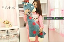 large 80cm giraffe stuffing plush toy cartoon giraffe doll boyfriend pillow back cushion birthday gift b5059(China)
