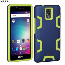 BLU R1 HD Phone Case Luxury Heavy Duty Shockproof Hybrid Armor Soft Silicone Rubber Hard Plastic Protective Cover for BLU R1 HD(China)
