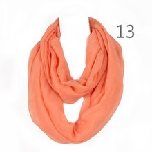 2017 Fashionable Solid Women Ring 180*50cms Voile Scarf Loop Foulard Femme Hijab Infinty Echarpe Cape