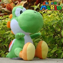 Free shipping 30cm Super Mario Plush Doll Figure green running yoshi plush toy super mario toys for christmas gift