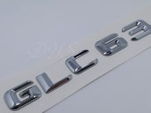 Chrome 3D ABS Plastic Car Trunk Rear Letters Words Badge Emblem Decal Sticker for Mercedes Benz AMG GLC Class GLC63(China)