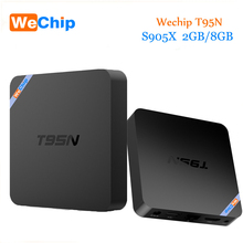 Wechip T95N Original Android 6.0 TV BOX Amlogic S905X quad-core 2G/8G KODI 16.0 4K WIFI HD Set Top Box PK X96 mini Media Player(China)