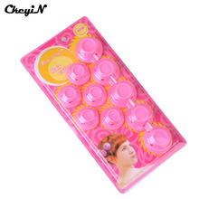 Fashion Girl 10pcs/Set No Clip Soft Silicone Plastic Magic Hair Rollers Curlers Roll Hair Care Bendy Twist Curls Beauty Tool(China)