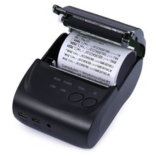 ZJ-5802LD Mini Bluetooth Port Thermal Receipt Printer 58mm High Speed Clear Thermal Receipt Printer For Supermaket Hotel Use