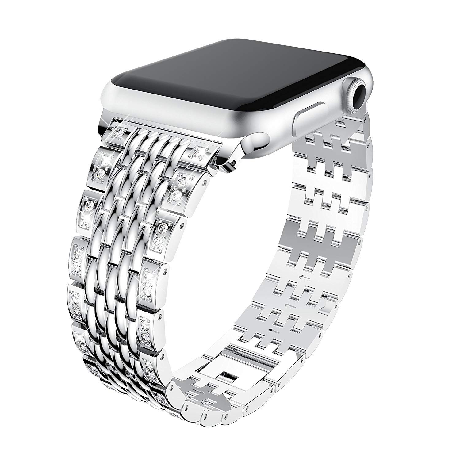 iWatch bands rose gold silver Diamond