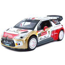 1:26 Citroen Red Bull World Rally Team Diecasts Toy Vehicles Model Car Sports Car Light Pull Back Alloy Model For Kids Child Boy
