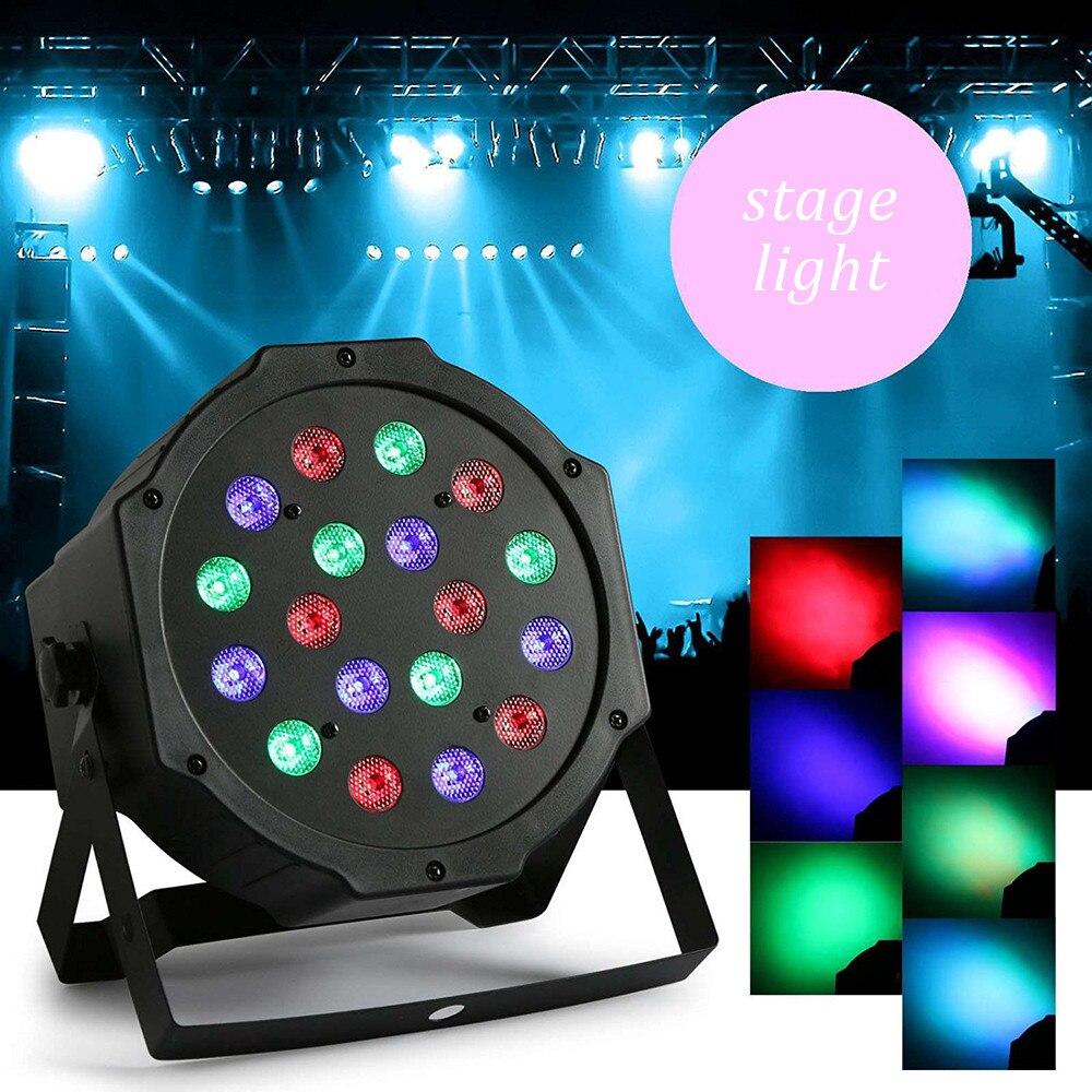 Professional 18pcs Bead LED Full DMX 512 RGB Colors Mixing LED Stage Light 18W Pars Disco DJ Wedding Flash LED Stage Light <br><br>Aliexpress