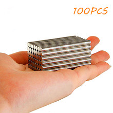 100 Pcs/lot Super Strong Round Magnets Cuboid Fridge Magnets Rare Earth N35 Neodymium Disc Kitchen Tools DIY 5x1mm