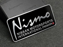 1pcs Free Shipping  For  Nismo international  MOTOR SPORT  decal  emblem  Car LOGO Sticker