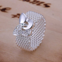 Ring Silver Plated Ring Silver fashion jewelry ring butterfly web jewelry wholesale free shipping jjhg LR071-8