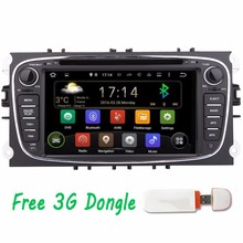 3G 7'' Android Car DVD GPS for Ford Focus Ford Mondeo 2012 2013 2014 2015 Dual Core Radio USB SD Wifi 3G steering wheel control(China)