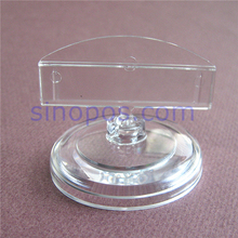 Card Holder Stand Clear Plastic 5x4cm, shop store cafe desktop shelf counter POP clips price tag display racks advertising sign