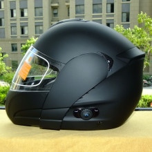 2017 new casco capacetes full face motorcycle helmet with bluetooth intercom headset flip up helmet dual lens ECE S M L XL XXL(China)