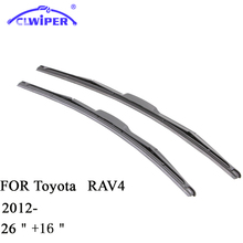 "CLWIPER Wiper Blades For TOYOTA RAV4 RAV-4 (2012-) 2013 2014 2015 Car Windscreen Wiper Windshield Wiper Blade 16""+26""Car windows"