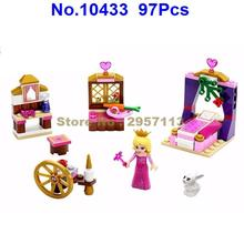 10433 97pcs Dream Sleeping Princess Girl Textile Machine Bela Building Block Compatible 41060 Brick Toy(China)