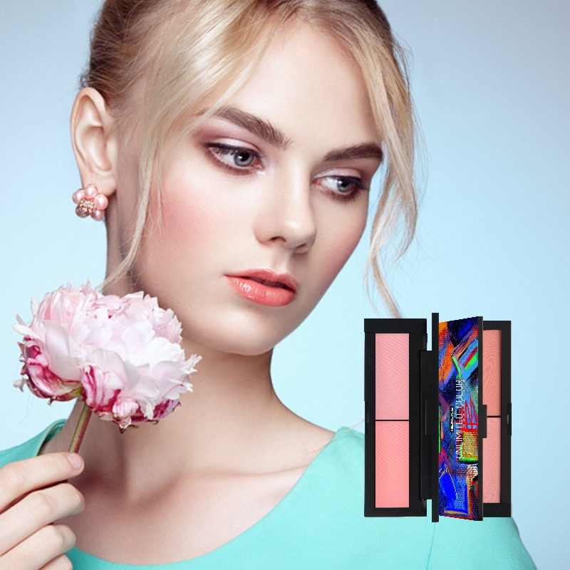 HENLICS Beauty Product Series Wonderful 2 Color Makeup Blush Face unlimited color fairy Blusher Powder Palette Cosmetic  (24)