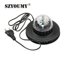 SZYOUMY New Stylish Hot Sale Full Color LED Sunflower 48 Leds Bulb Lamp Auto Rotating MP3 Crystal Stage Light(China)