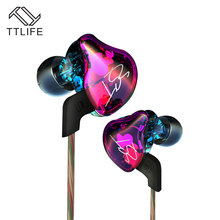 TTLIFE Armature Dual Driver Earphone Detachable Cable Earphones Audio Noise Isolating Earpiece HiFi Music Sports Earbuds For mp3
