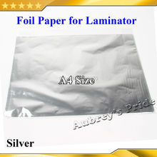 Free Ship Thin Cheap 50 Pcs Silver 20x29Cm A4 Size Hot Foil Paper Laminator Laminating Transfered Laser Printer Business Card