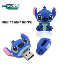 free shipping cute lovely Stitch 64GB 32GB 16GB 8GB usb flash drive cartoon USB 2.0 Flash Memory stick Pen Drive pendrive u disk
