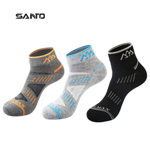 Calze Ciclismo High Elasticity Breathable Coolmax Men Cycling Socks Breathable Sport Running Hiking Bike Bicycle Ankle Sock