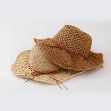 Mulheres Aba Larga Chapéu de Palha 2018 Moda Verão Chapéus de Sol Paille  Senhora Tampas de Trigo Velejador Chapeu Panamá Chapéus. 6f3461a220b