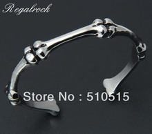 Regalrock Fashion Skull Bone Bangle Cuff