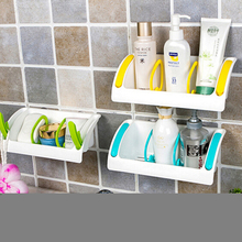 1PCS Bathroom Lovely Corner Storage Rack Organizer Shower Wall Shelf with Suction Cup Storage Box Storage Rack(China)
