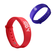 high quality smartband sports tracking Men Women LED Display smart bracelet wristband with Pedometer Thermometer Sleep Monitor