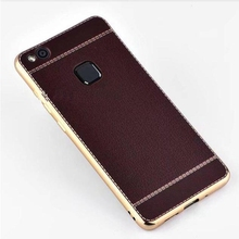 "Coque For Huawei Nova Plus Cases Business Brown Plating TPU Silicone Soft Back Cover Nova Plus 5.5"" Protector Phone Case nh307"