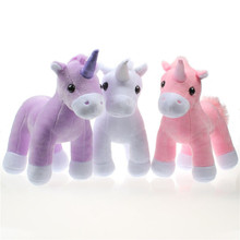 1 Pcs Cute Unicorn Plush Doll Kids Toys Unicorn Soft Stuffed Animal Baby Dolls 20cm(China)