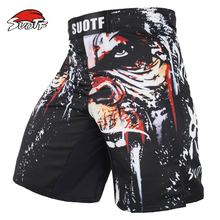 SUOTF MMA Boxing Sports Men Orangutan Patterns Personality Breath Large Fitness Thai Boxing Shorts Tiger Muay Thai kickboxing