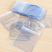 2017 100 Pcs/lot Clear PVC Plastic Coin Bag Case Wallets Storage Envelopes Seal Plastic Storage Bags gift package Wholesale