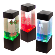 Jellyfish Lamp Jellyfish Tropical Aquarium Light Fish Tank LED Light LED Desktop lamp Relaxing Bedside Mood Night Light(China)