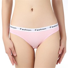 Buy Sexy panties women Fashion printed Pink cotton briefs female underpants ladies Seamless underwear Plus Size thongs g strings