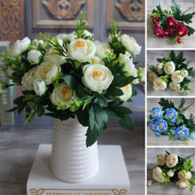 New Spring Artificial Fake Peony Flower Arrangement Home Hotel Room Decoration Drop Shipping(China)