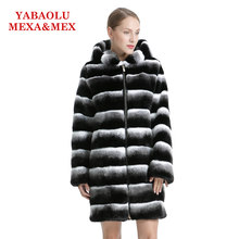 Women Coat Faux Rex Rabbit Fur Winter Warm Hooted Overcoat Vest Fourrure Fur Coat Jackets Women Clothing Outerwear(China)