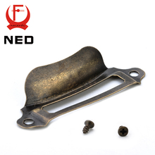 10pcs NED Antique Brass Metal Label Pull Frame Handle File Name Card Holder For Furniture Cabinet Drawer Box Case Hardware