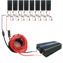 DE style for home 220v:1200w 8*150w mono solar panel system with 1000W 12v/230v grid tie invertor