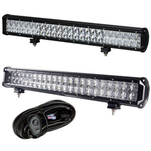 weketory 4D 5D 22 inch 240W LED Work Light Bar for Tractor Boat OffRoad 4WD 4x4 Truck SUV ATV Spot Flood Combo Beam 12V 24v