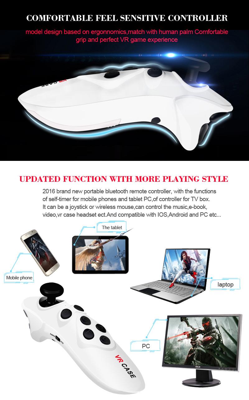 Virtual Reality Google Cardboard VR BOX Original bobovr Z4/ Z4 Mini 3D glasses+Bluetooth Controller for 4-6' Smart Mobile Phone 24