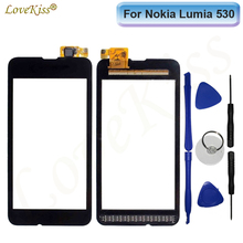 For Nokia 530 Touchscreen Front Panel Digitizer For Nokia Lumia 530 N530 Touch Screen Sensor LCD Display Glass Cover Replacement(China)