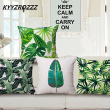 Fashion High Quality Cotton Linen Africa Tropical Plant Banana Leaf Decorative Throw Pillow Case Cushion Cover Sofa Home Decor(China)